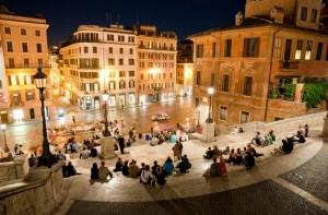 Piazza di Spagna Rome night tour