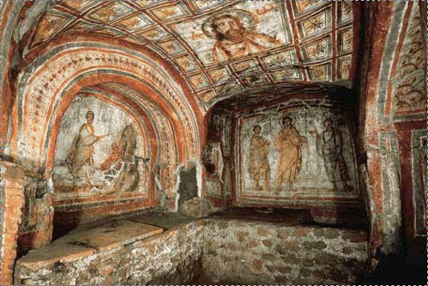 Rome catacombs of Saint Sebastian