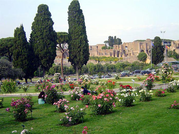 The rose garden Rome private tour