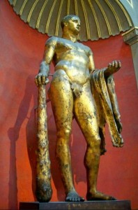 bronze statue of Heracles - Vatican museum excursion