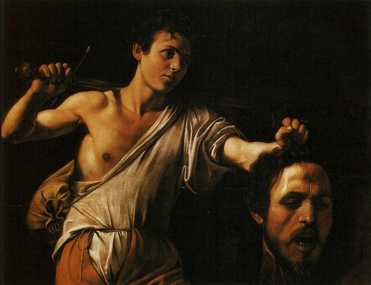 davide e golia caravaggio - Borghese gallery tour