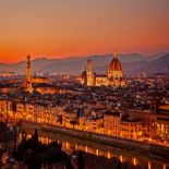 firenze panorama night