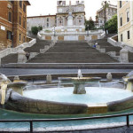 Rome fountain of Spanish square - Italy
