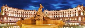 piazza della repubblica Roma - Private car tour of Rome