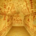 Этрусская гробница - Тарквиния - Италия на русском