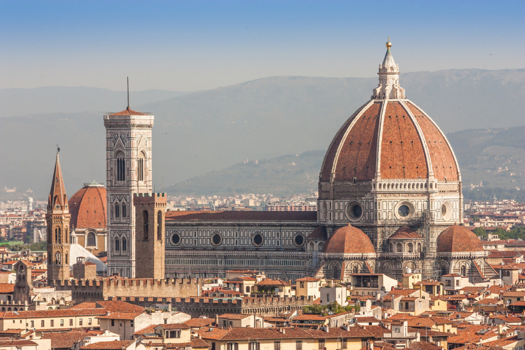 Panoramic view from Piazzale Michelangelo in Florence - Italy