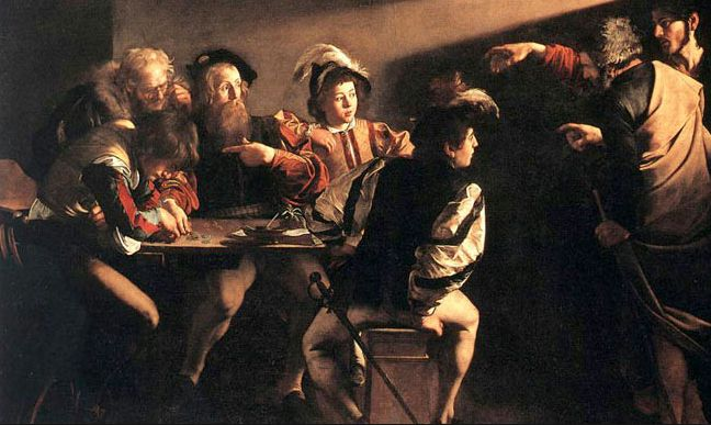 CARAVAGGIO CALLING OF SAINT MATTHEW