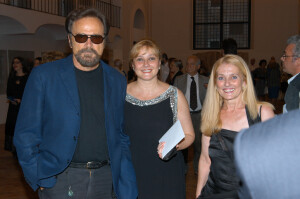 Franco Nero and sisters Tanya and Marusya Kalimerovi - VIP Artists in Rome