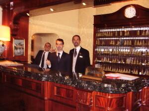 Lorenzo Fantechi and Adel Karanov - hotel roma Regina Baglioni - rome local guide