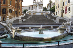 Spanish square - Bernini fountain - Rome local guide