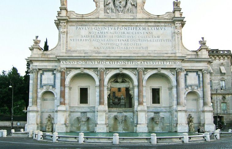 fontana paola roma - rome individual tour