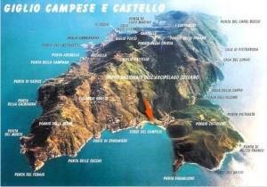 Isola del giglio maps - Tuscany private tours