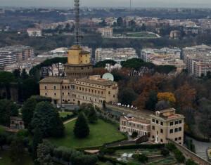 Vatican Radio tower in the Vatican citiy - Vatican guide