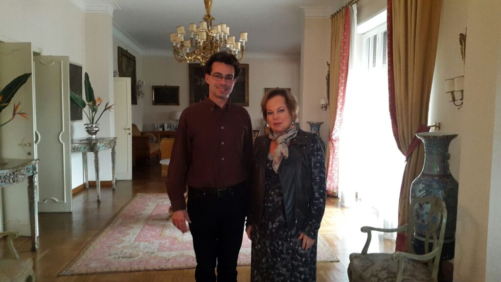 Gucci Mariapia and the composer Adel Karanov 2015 Florence local guide