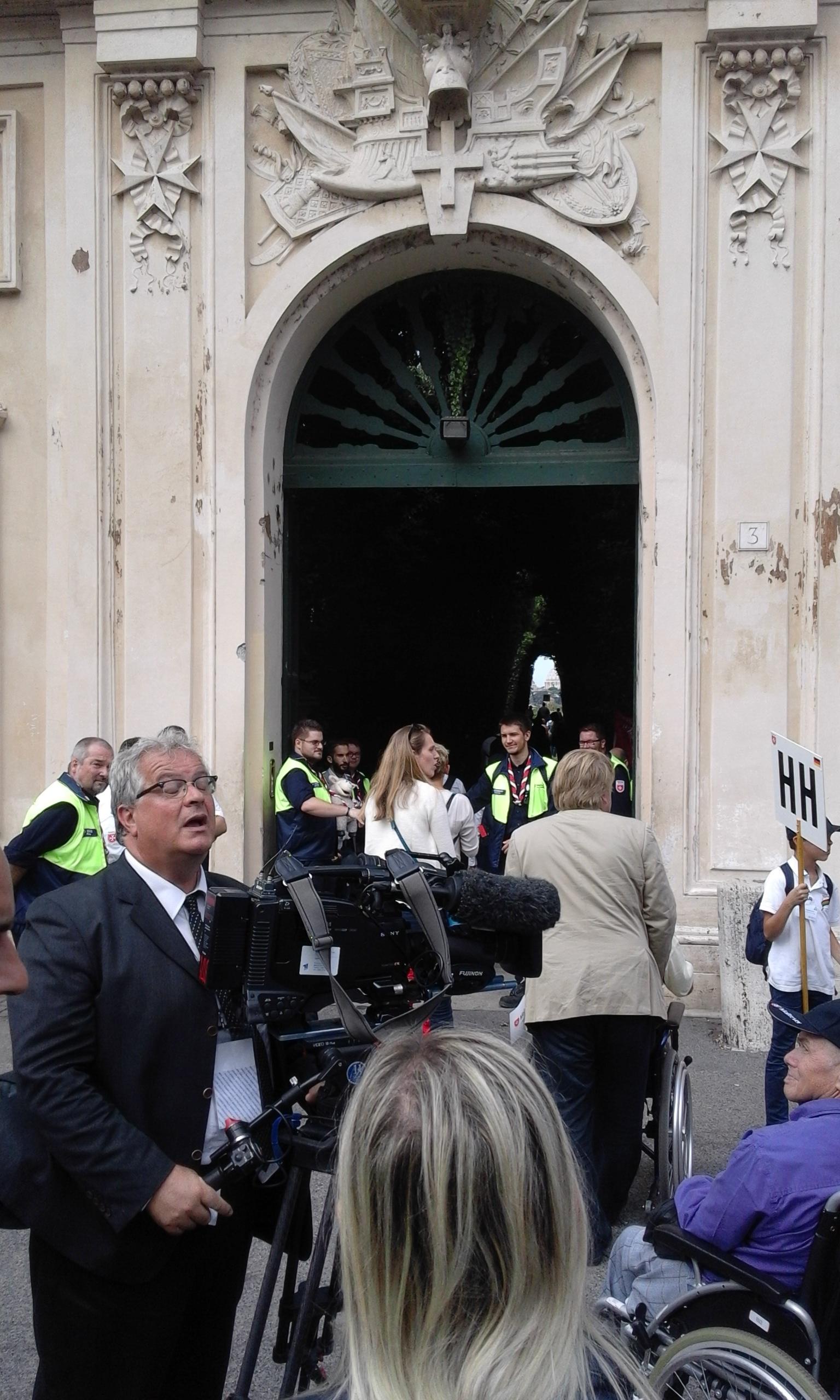 Open door of the Embassy - Order of Malta