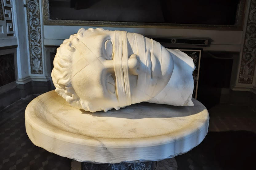 Head of Giovanni il Battista - Sculpture of Igor Mitoraj
