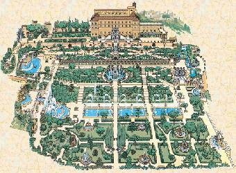 Карта фонтанов Виллы д'Эсте