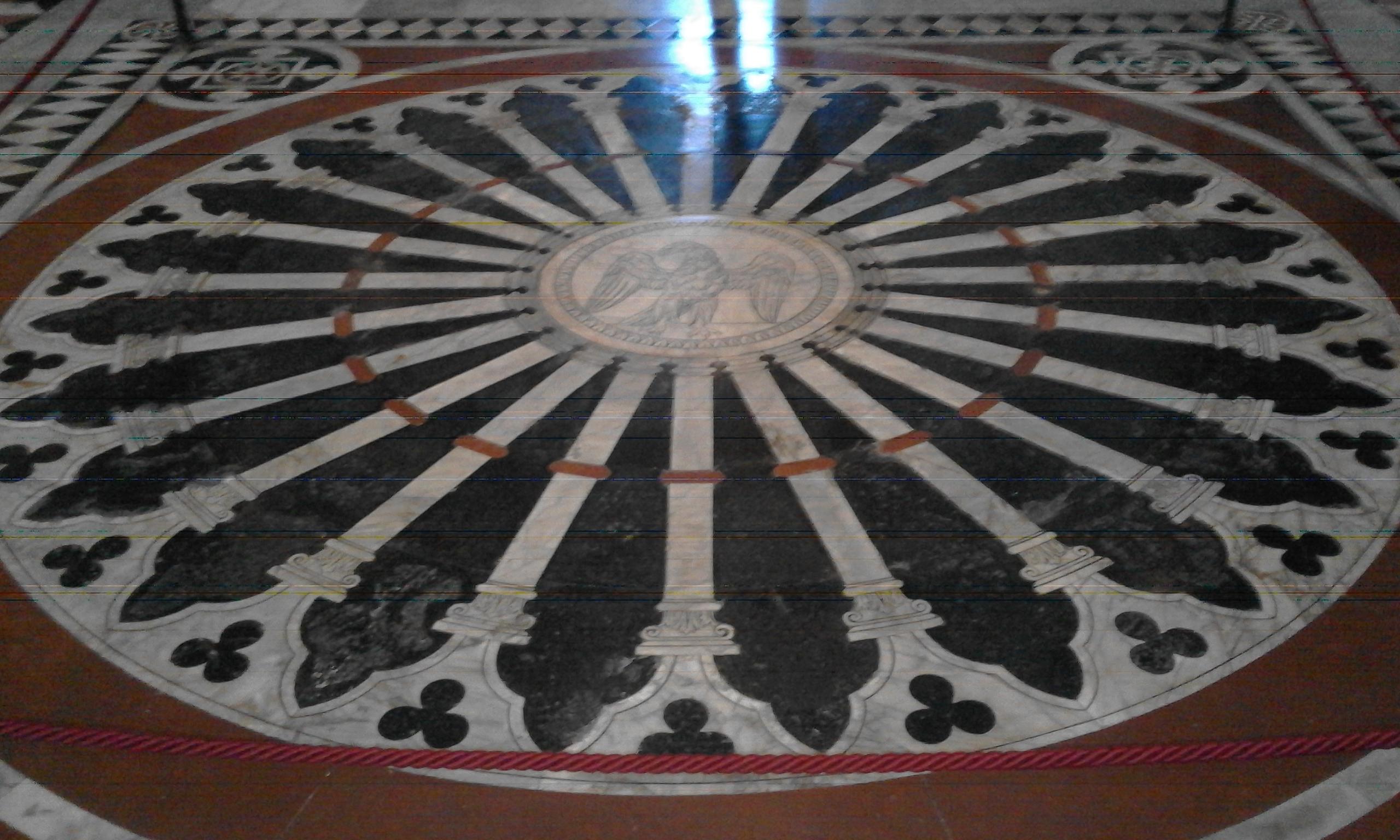 Ruota pavimento - Duomo di Siena
