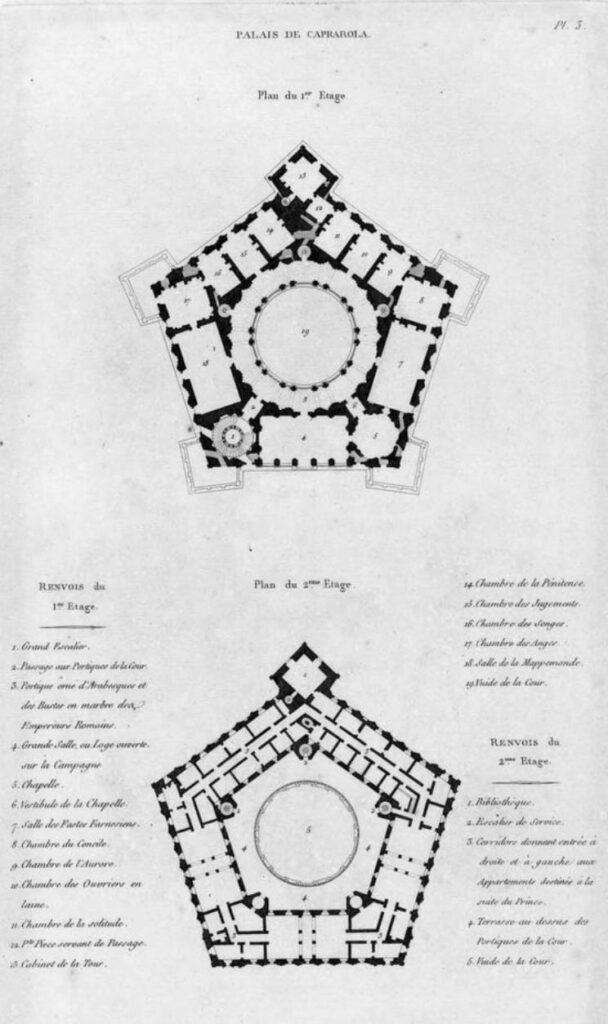 Архитектурный план крепости Фарнезе - Экскурсия в Капраролу