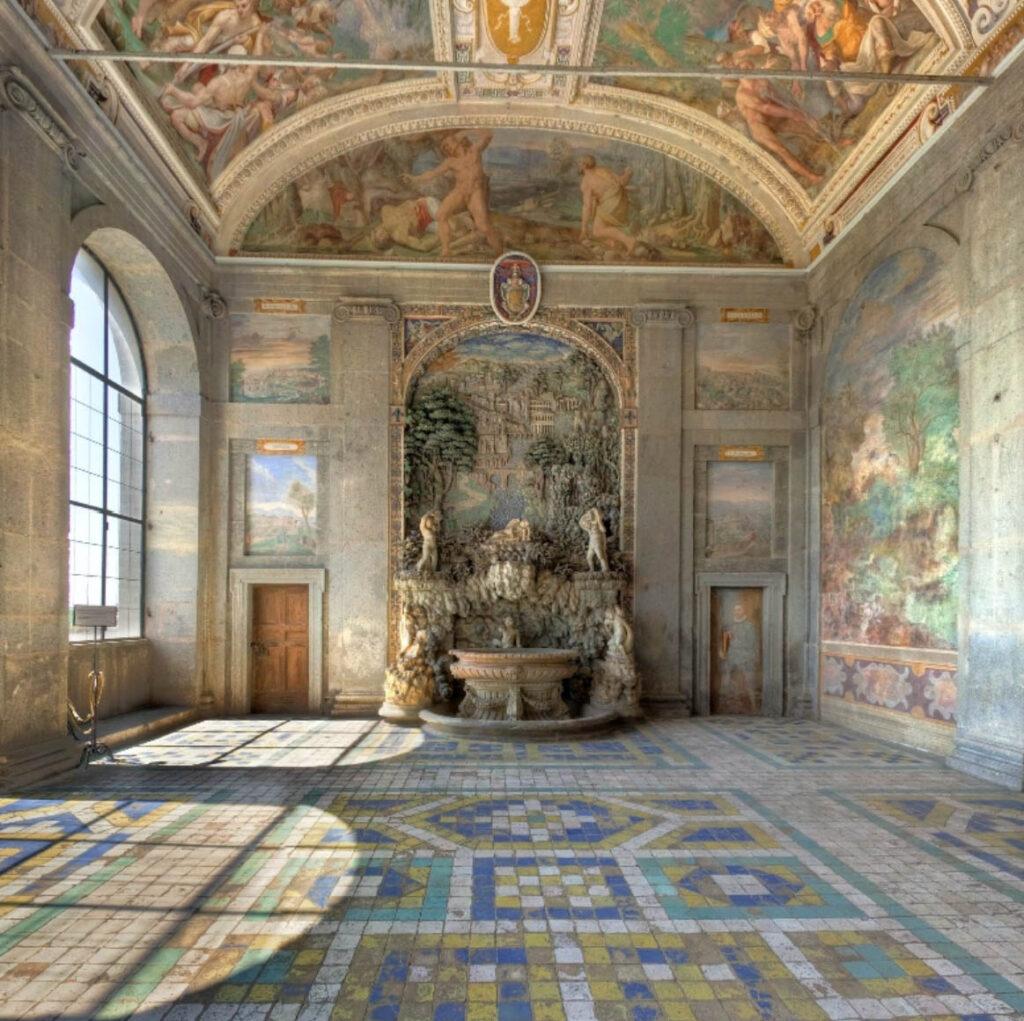 Фонтанный зал - Капрарола - Экскурсия в Лацио