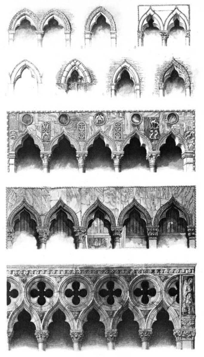 Chapiteaux gothiques - John Ruskin 1853 - Pierres de Venise - IX 12