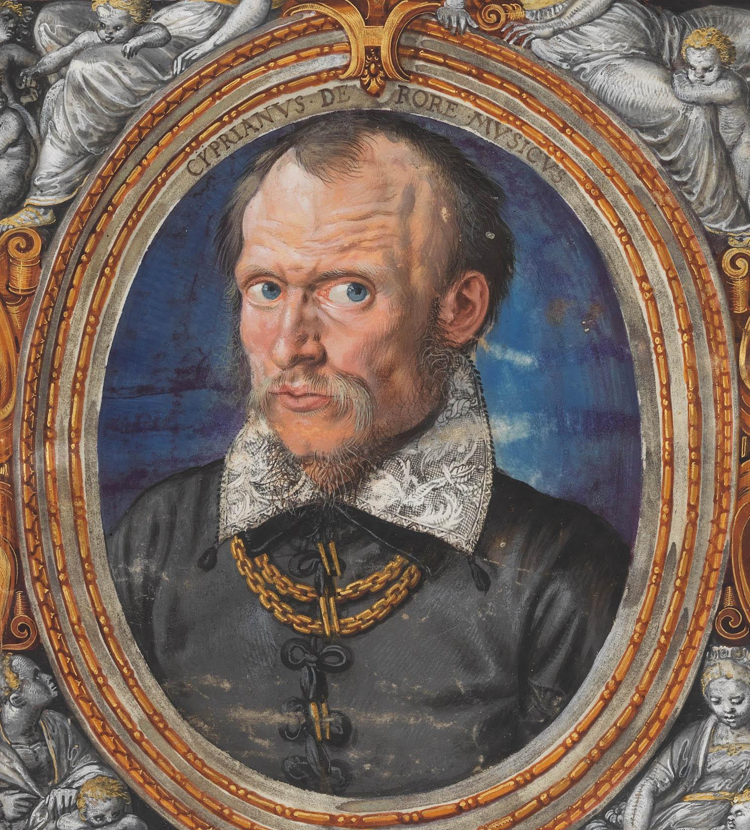 Cipriano de Rore par Hans Miuelich -1558 - Ecole de Venise