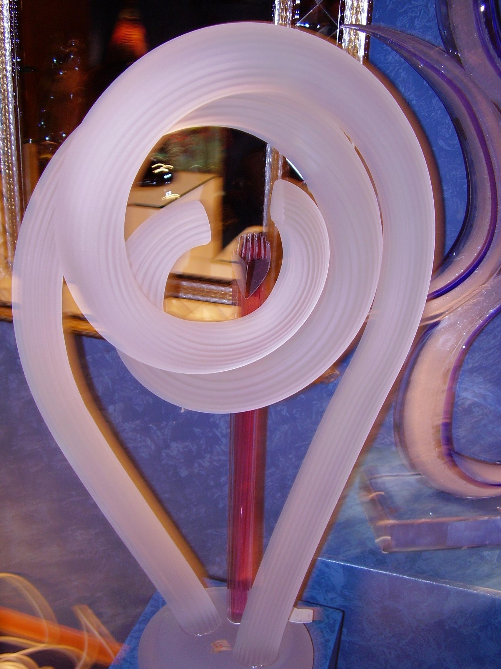 Glass modern art in Venice