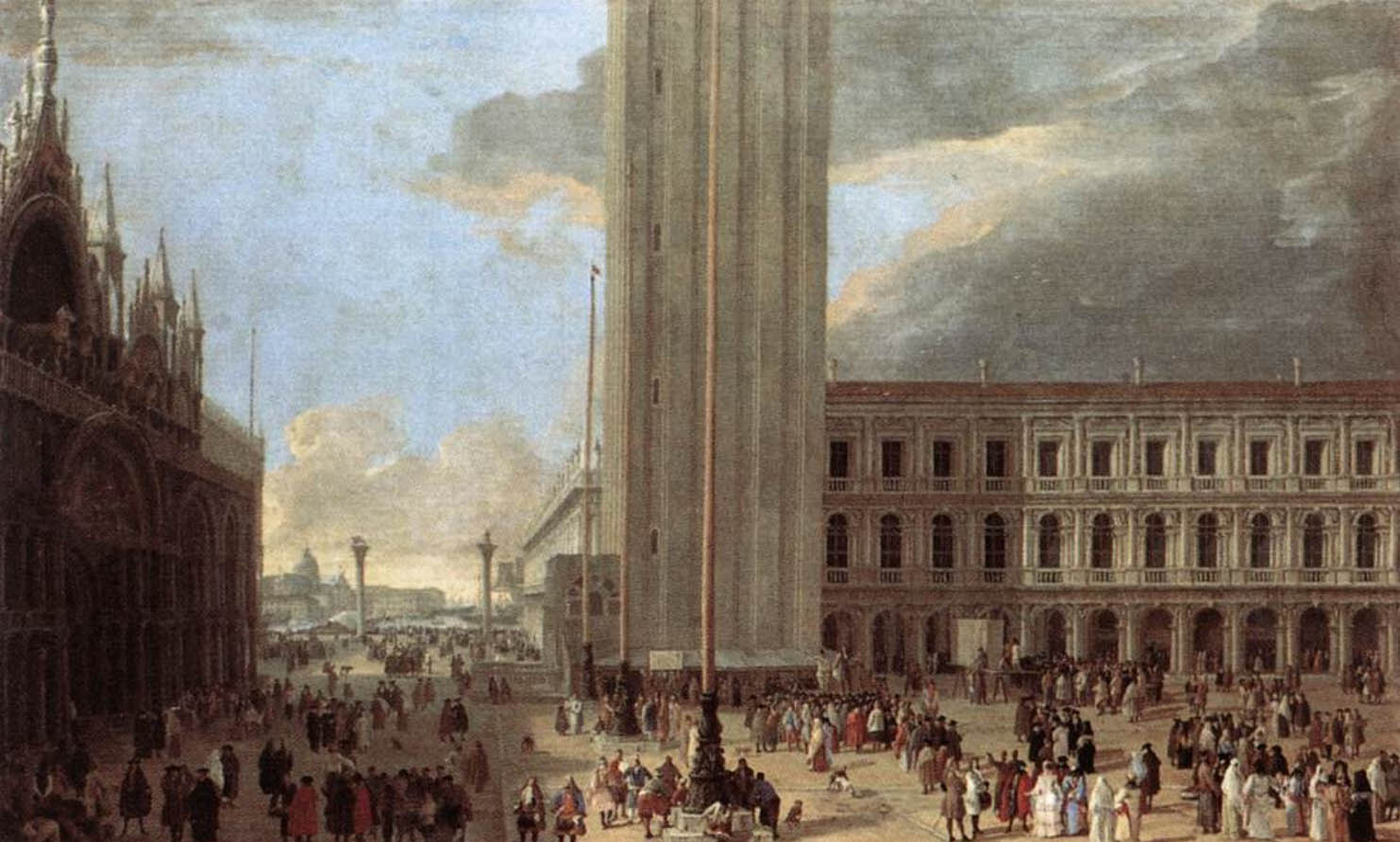 Luca Carlevarijs - Piazza San Marco with Jugglers - Italy private excursions