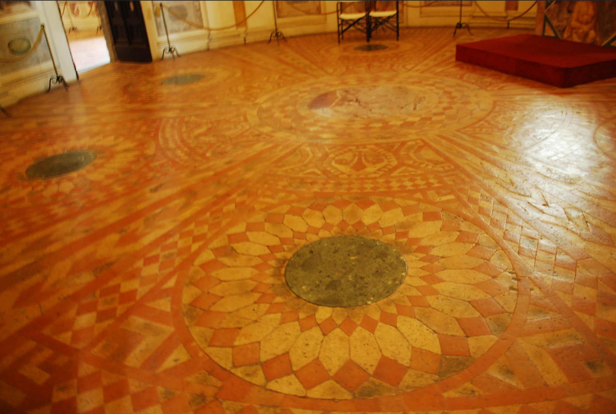 Pavment in Palazzo Farnese - Caprarola private tour