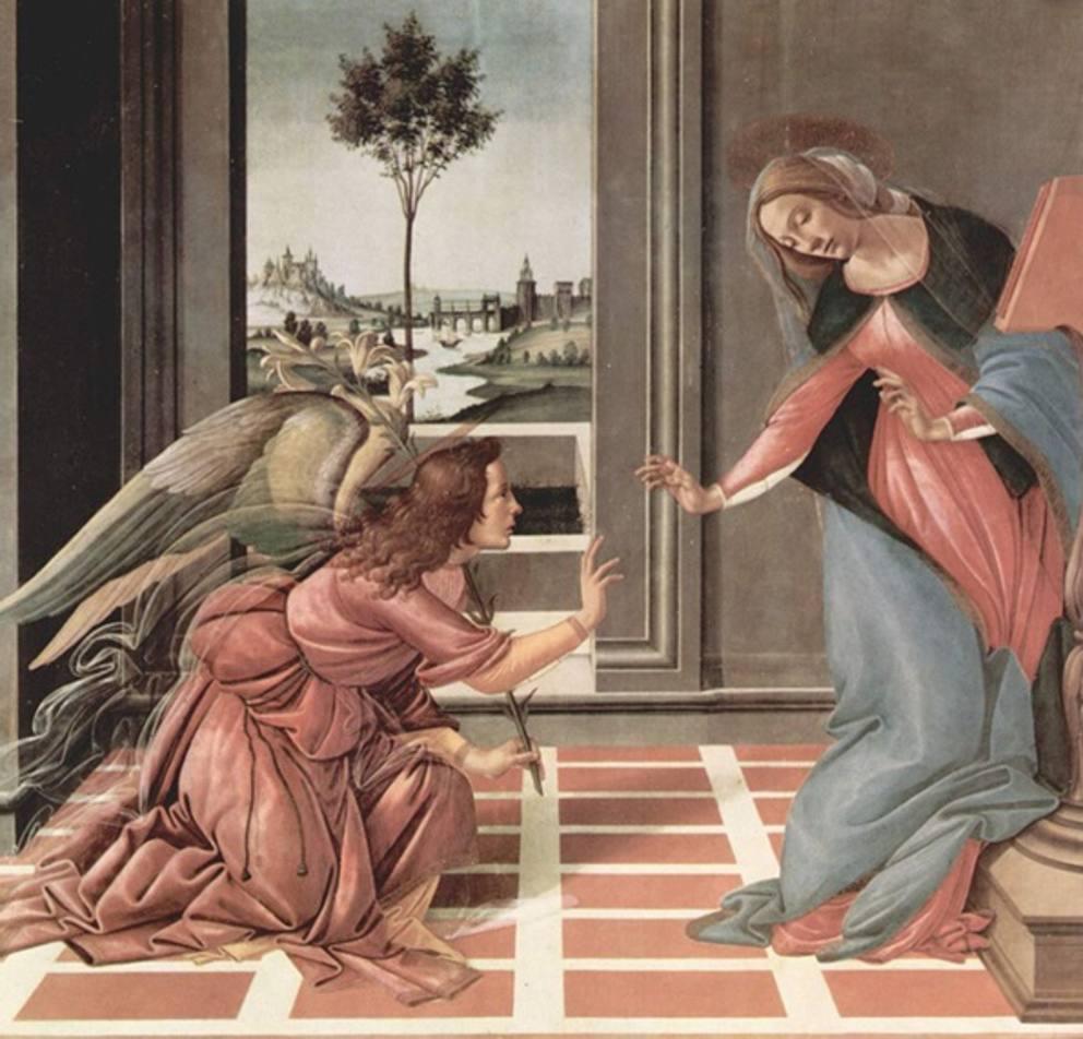 Благовещение - Леонардо Да Винчи - Флоренция