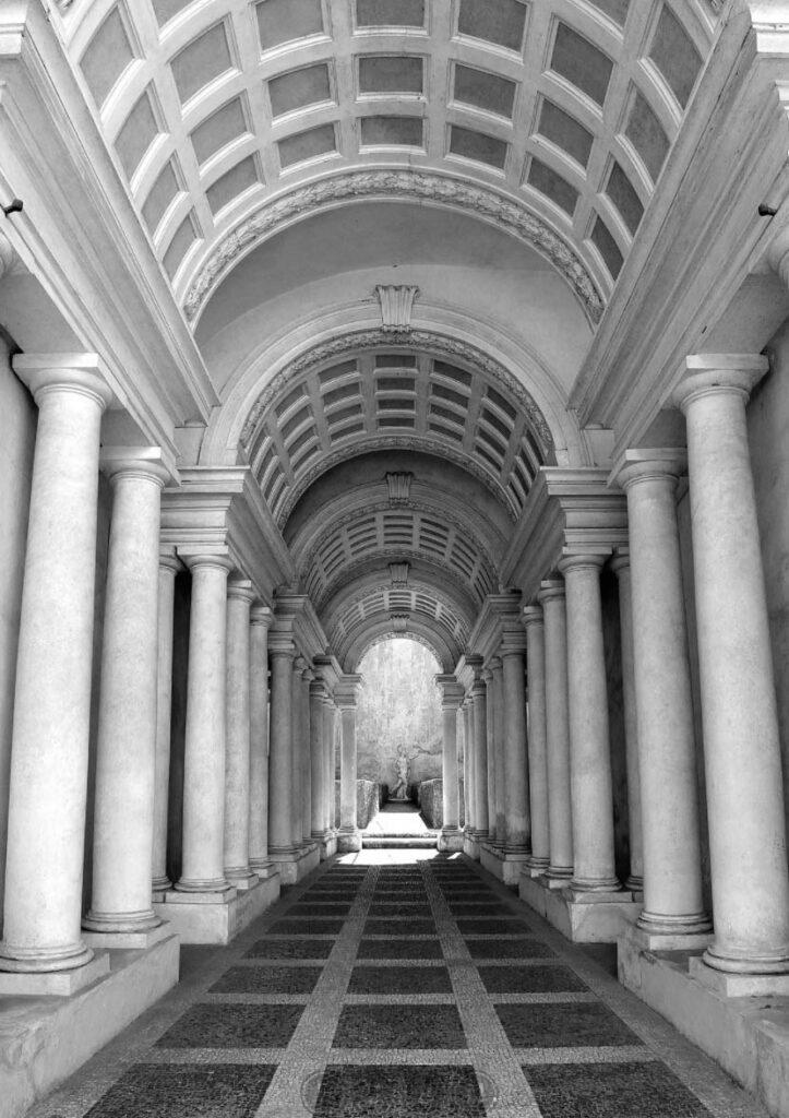 Перспектива - Франческо Борромини - Палацо Спада - Рим