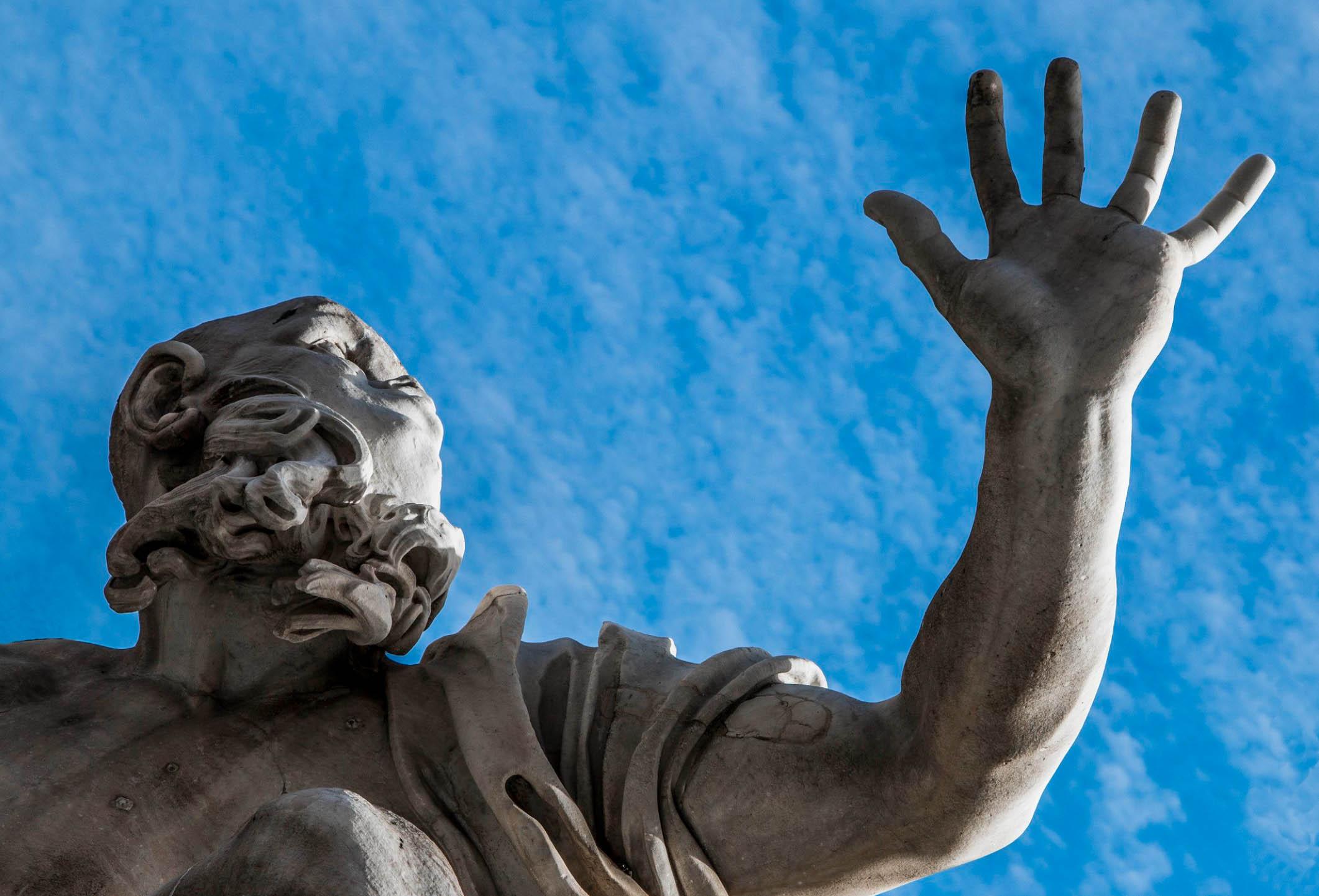 Piazza Navona central fountain by Bernini