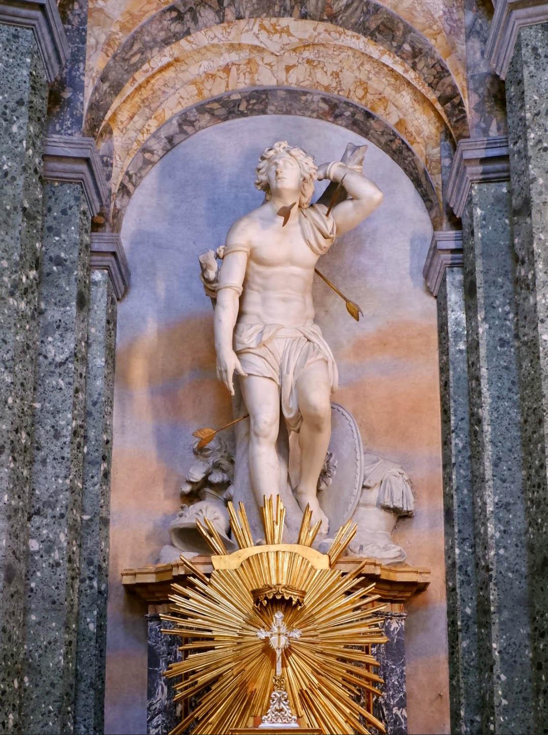 Saint Sébastien - Basilique de Sant'Angese in Agone