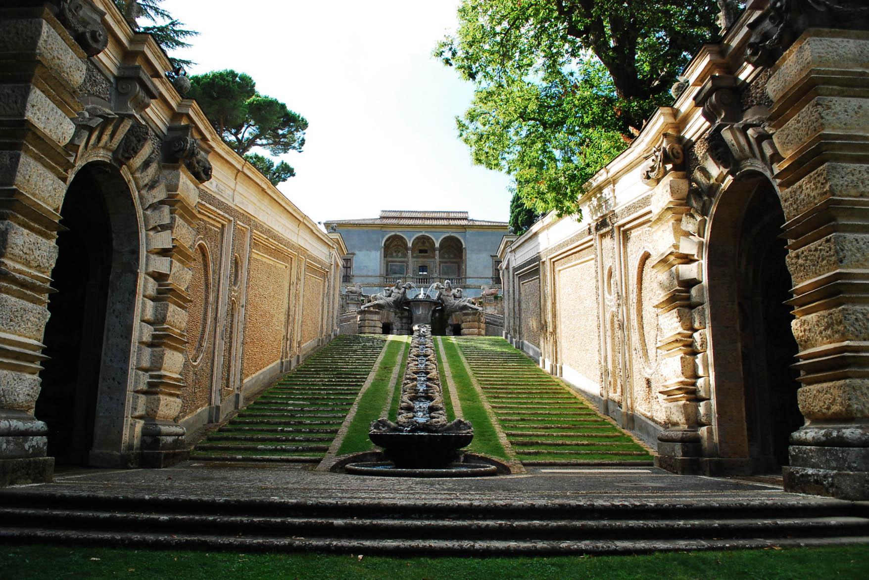 Jardins - Palais Farnèse - Caprarola - Circuits en voiture Latium