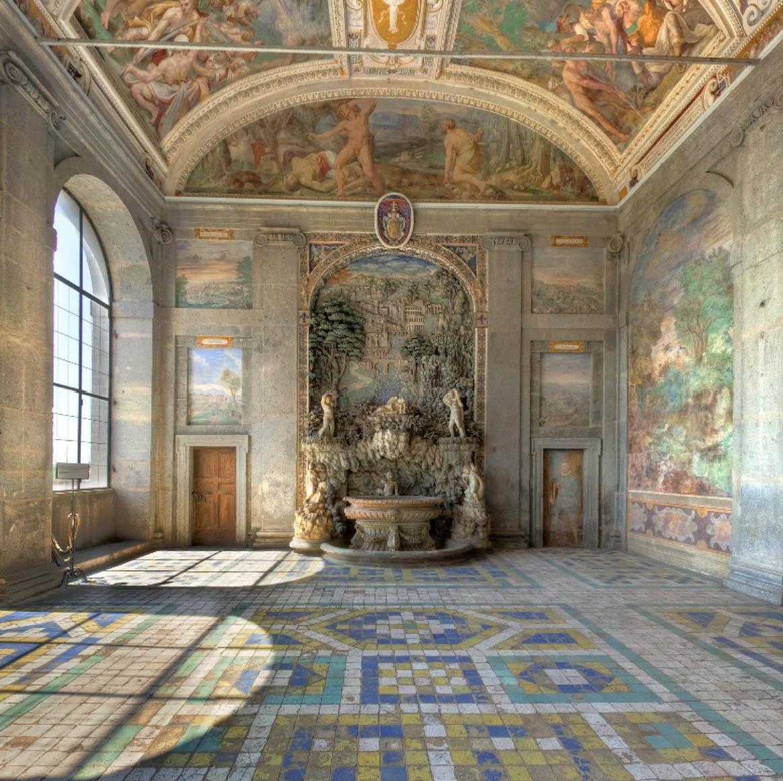 Salle de la fontaine du Palazzo Farnese - Caprarola - Visite privée du Latium